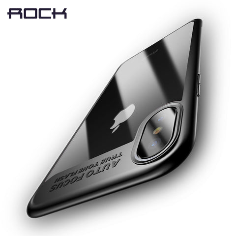 iPhone X Case, ROCK Slim Full Protective PC & TPU Silicone Cover Case for iPhone X