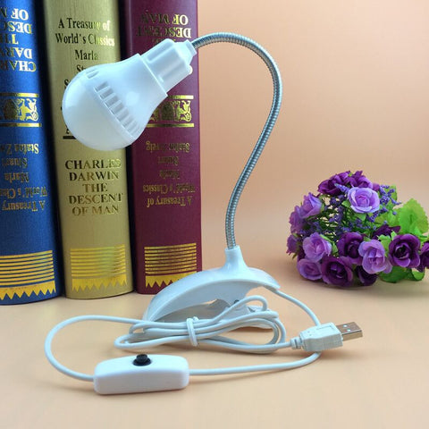 Creative Flexible USB LED Clipper Table Lamp Light For Reading