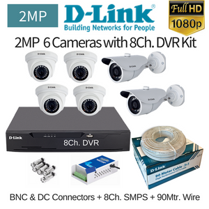 D-Link 2MP 6FullHD CCTV Camera with 8Ch. DVR Combo Kit