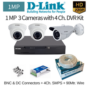 D-Link 1MP 3HD CCTV Camera with DVR Combo Kit