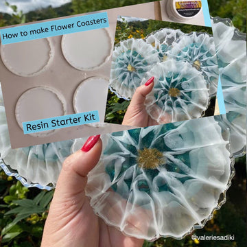 How to create flower coasters? Resin starter kit and YouTube tutorial available now