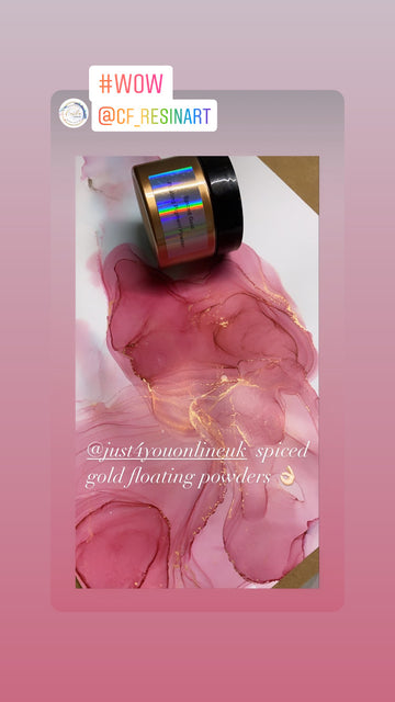 Game Changer for alcoholink artists - floating pigment powders - how to coming soon on our YouTube channel 🥰