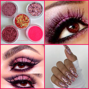 Cosmetic loose bulk glitter uk supplier supplies biodegradable nail art nails eyeshadow lashes makeup beauty blogger instanails Saturday night wedding planning festival festivals summer fashion trend cosmetics pink glitter unicorn mermaid