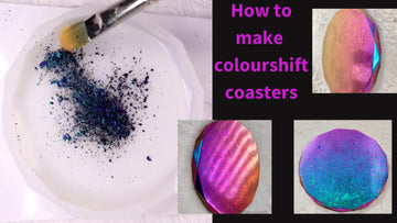 Get creative with this tutorial video of how to create colour shifting coasters with Opal Flakes 🤗