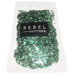 glitter art tutorial video how to why should I resin art YouTube acrylic painting green Rebel Glitters Mica Powder loose chunky fine nails art work