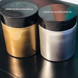Metallic pigment powder nails gold silver dust sparkle glitter liquid resin art supplies