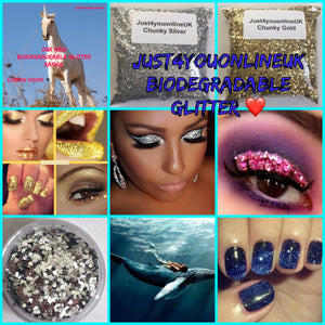 Biodegradable cosmetic bulk glitter makeup beauty eco friendly cruelty free vegan plastic free ocean friendly bio glitter eco glitter sparkles eco products recycling Ronald Britton biodegradable glitter make up products beauty cosmetics cosmetic uk supply