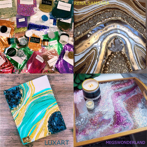 Giveaway massive art resin glitter sparkle win free geode tray wall art