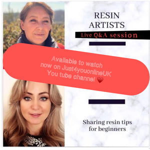 Questions and answer live session for resin art beginners - Watch Now 😘😘