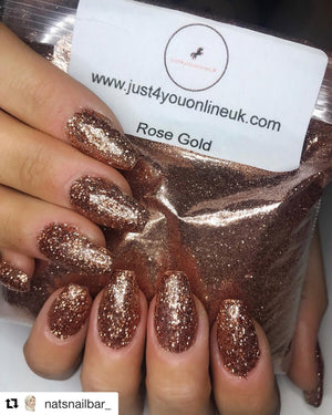 Rose gold glitter loose glitter ultra fine glitter chunky glitter cosmetic glitter Easter holidays good Friday Sunday Monday cosmetic glitter bulk glitter uk supplier supplies nail glitter eye glitter shellac soak off uv gel CNd lamp eyebrow lashes tint