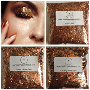 rose gold glitter eyeshadow nails craft design Chunky Fine nail art makeup