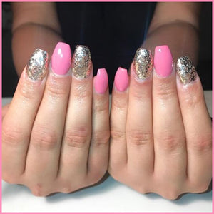 pink glitter nails champagne glitter nails nail art cosmetic nail salons beauty makeup nail shop