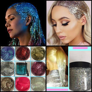 Glitter Hair Gel Bulk 500ml glitter hair salon salon supplies Hair dresser mobile sparkly hair hair glitter Toni and guy loreal