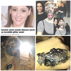 Skin care skin care addict glitter mask Suranne Jones beauty secrets exfoliating mask glitter mask celebrity health secrets diets health moisturisers