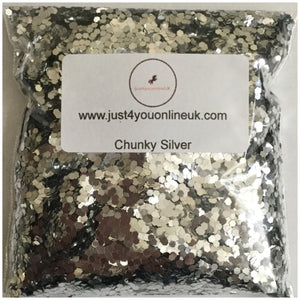 Chunky silver glitter 0.083 grade hex bulk salon supplies glitter supplier wholesale