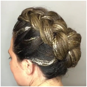 2018 trends trend glitterage balayage glitter hair hairstyles fashion festivals catwalk festival balayage artist classes techniques French braid plait glitter gel tint brush