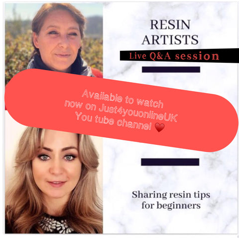 Resin art beginners live help advice tips support tricks artists support how to Instagram share YouTube
