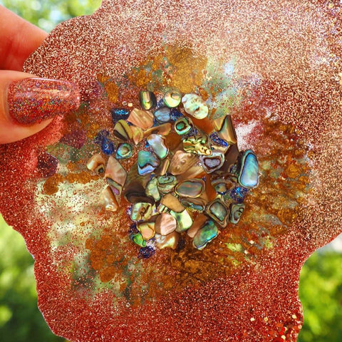 Abalone shells rose gold art supplies glitter craft crafts arts Just4youonlineUK rebel glitters