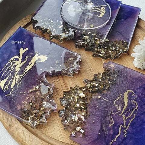 Agate Slice Coaster Moulds Resin Molds by Just4youonlineUK