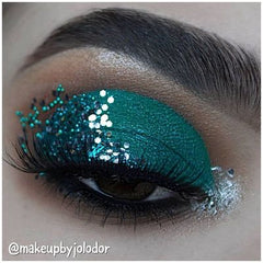 Cosmetic glitter makeup biodegradable glitter makeup looks make up of the day eyes eyshadow glitter for face body hair tattoo