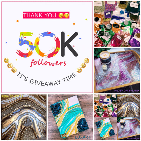 How to win free glitters resin art