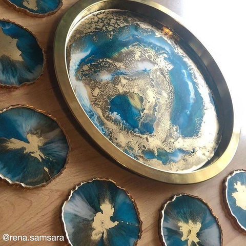 Epoxy Resin Glitter and Premium Resin for Geode Art Craft Agate