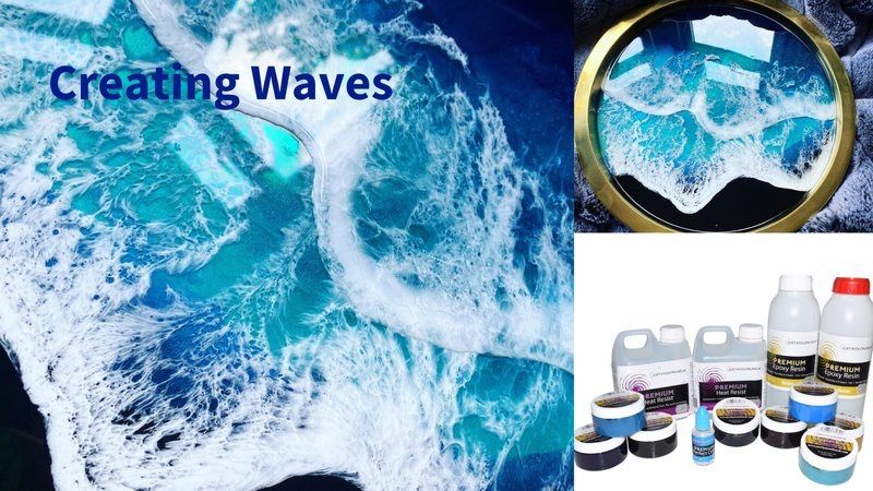 How to create waves and lacing in your epoxy resin art Just4youonlineUK