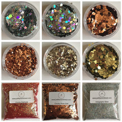 Extra large chunky glitter flakes. Crafts and arts, makeup, nailsart, Eyeshadow cosmetic