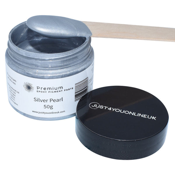Epoxy Resin Pigment Paste Silver Pearl Tint for Art