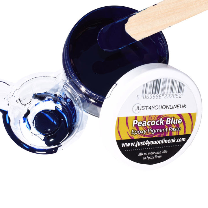 Epoxy Resin Pigment Paste Peacock Blue Liquid Resin Tint for Art