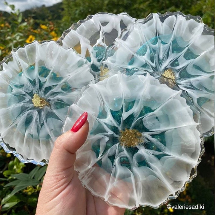 Flower Coasters Resin Starter Kit Just4youonlineUK