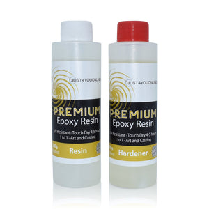 Just4youonlineUK Epoxy Resin Starter Set Kit Size 400g