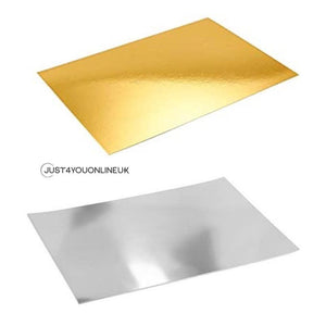 Mirror Effect Sheets in Gold and Silver for Resin Art