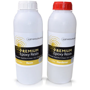 Premium Epoxy Resin Just4youonlineUK 2kg Kit for Art Resin Geode Coating