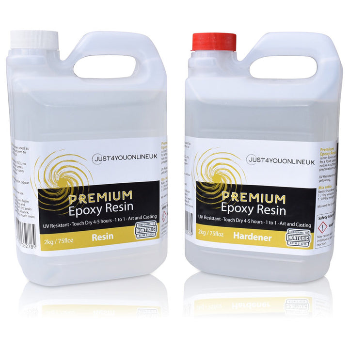 Premium Epoxy Resin Just4youonlineUK 4kg Kit Resin Art