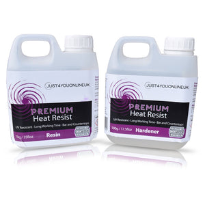 Premium Heat Resistant Epoxy Resin Just4youonlineUK 1.5kg Kit