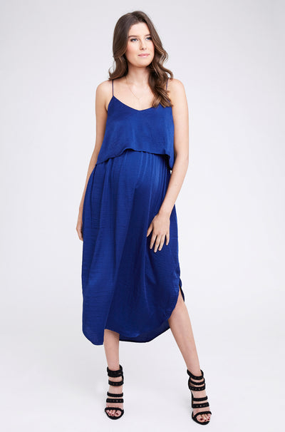 Ripe Maternity Nursing Slip Dress - Royal