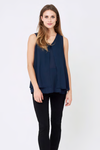 Ripe Maternity Split Front Nursing Top - Navy