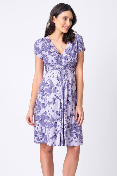 Seraphine Blossom Knot Front Dress-  Lavender