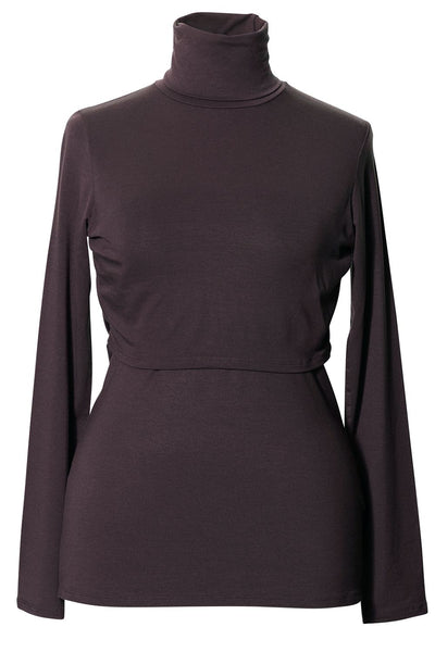 Boob Jackie Polo Neck Top - Black