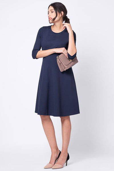 Seraphine Davie Aline Nursing Dress - Navy