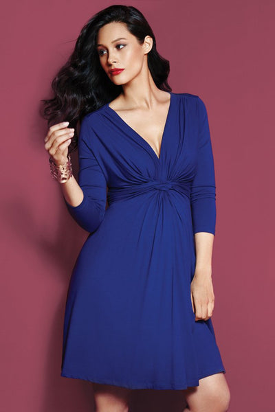 Seraphine Jolene Knot Front Dress -  Dark Blue