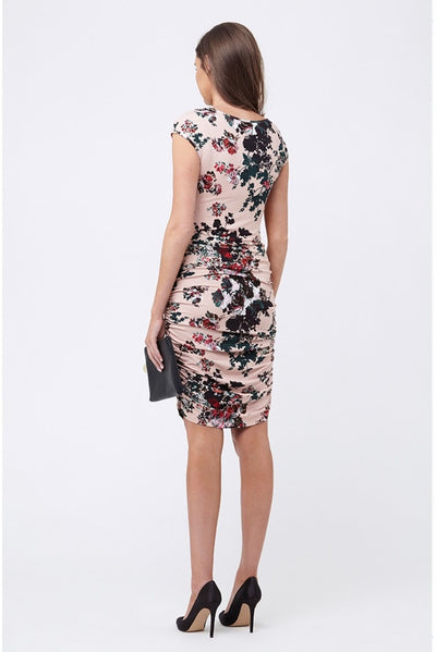 Ripe Maternity Blossom Cross Your Heart Dress - Shell Pink