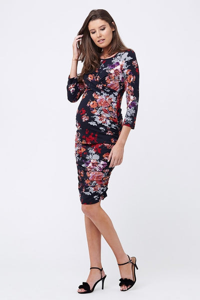 Ripe Maternity Blossom Cross Your Heart Dress - Midnight
