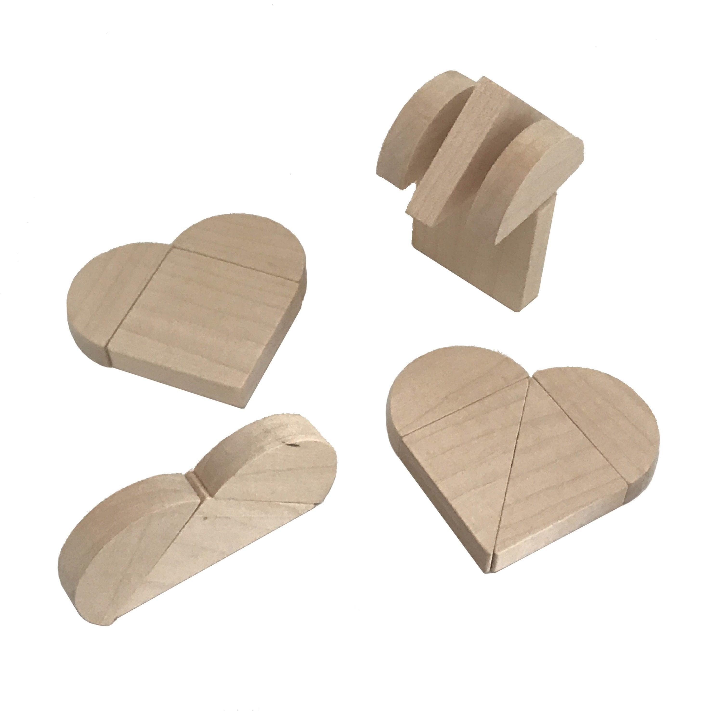 Wooden Heartblocks - Package with 3 packs