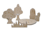 Wooden Pond Nature - 3 pack ( 6 wooden pcs in the box )