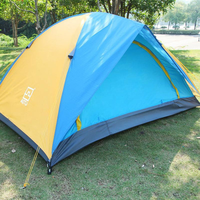 1-2 Person Double Layers Outdoor Camping Tent One Bedroom Waterproof Hiking-Travel & Life Store-Bargain Bait Box
