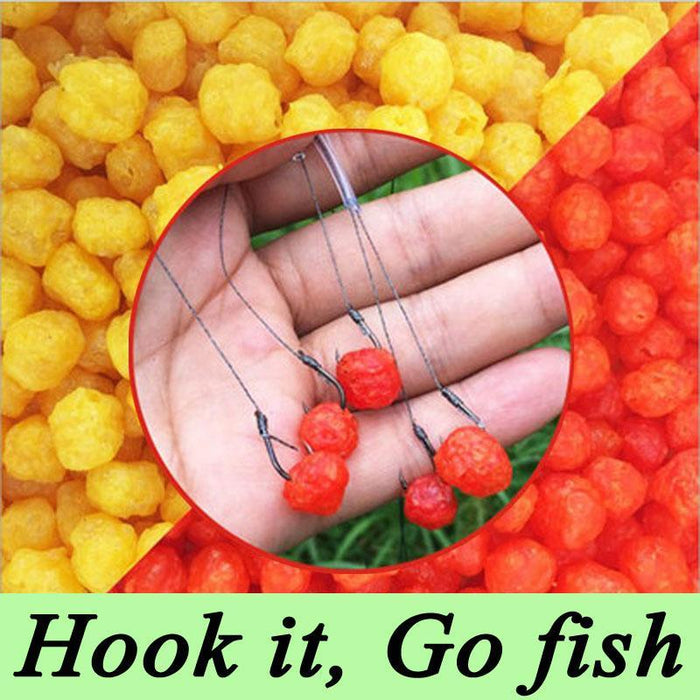 1 Bottle 60G 230Pcs Carp Fishing Cereal Fruit Flavor Bait Balls Pop Floating-Dough Baits & Boilies-Bargain Bait Box-Fruit flavor 1pcs-Bargain Bait Box