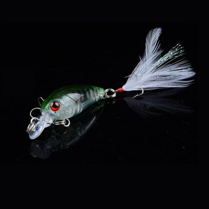 1 Pcs 4.5Cm/4.5G Wobble Fishing Lures Crankbait Bass Wobbler Tackle Hook For-ZGTN Fishing Store-1-Bargain Bait Box