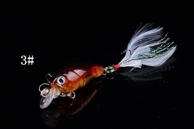 1 Pcs 4.5Cm/4.5G Wobble Fishing Lures Crankbait Bass Wobbler Tackle Hook For-ZGTN Fishing Store-3-Bargain Bait Box